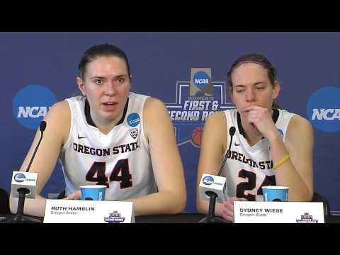 Oregon State WBB Postgame Press Conference vs Troy (NCAA First Round) 3/18/2016