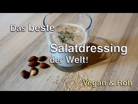 Das beste Salatdressing der Welt! Sauleckere & mineralstoffreiche Sosse! Vegan + Rohkost