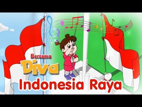 Indonesia Raya ( Lagu Kebangsaan Indonesia ) | Diva Bernyanyi | Lagu Anak Channel