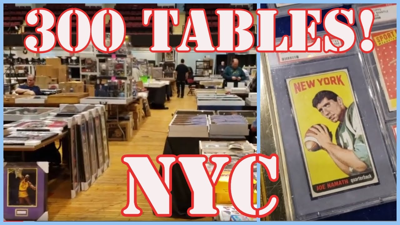 We Go Backstage At A 300 Table Baseball Card Show In White Plains New York Smr Collectibles Tv 06