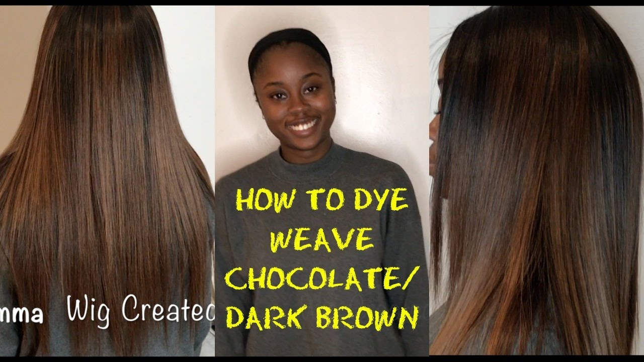 How To Dye Weave A Chocolate Dark Brown Youtube