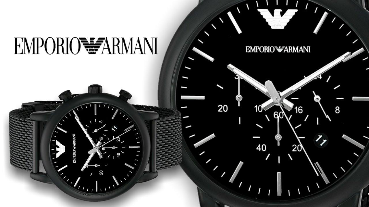 508660e6d42 Emporio Armani Men s AR1968 Dress Black Sport Watch - YouTube