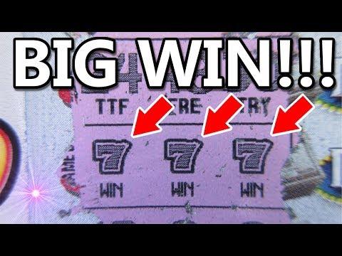 BIG WIN!!..$20  ULTIMATE TRIPLE 777  LOTTERY TICKET SCRATCH OFF!!