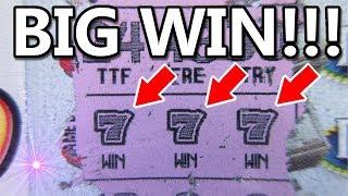 "BIG WIN!!..$20 ""ULTIMATE TRIPLE 777"" LOTTERY TICKET SCRATCH OFF!!"