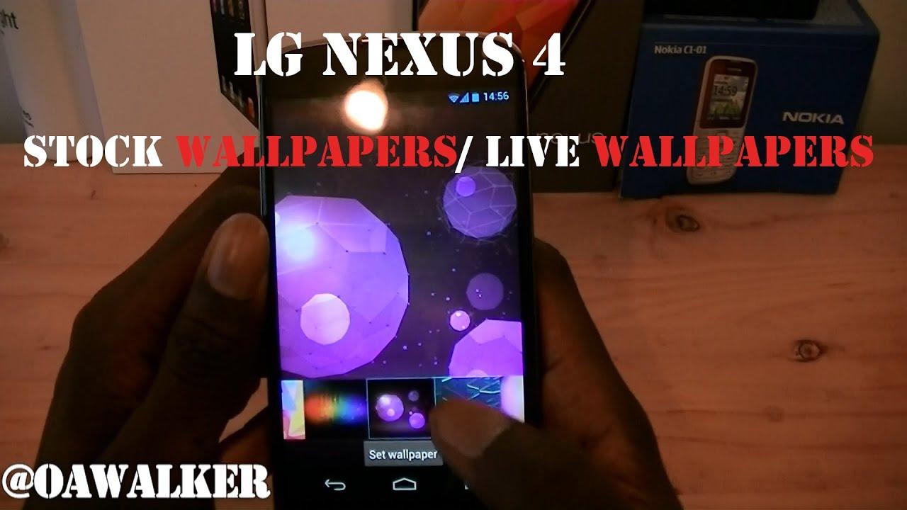 LG Nexus 4 Stock Wallpapers Live