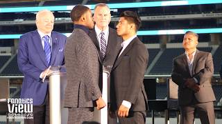 Errol Spence & Mikey Garcia Face Off at AT&T Stadium in Front of Jerry Jones!