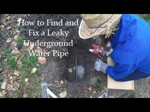 How to Find and Fix Underground Irrigation Pipe Leaks ...