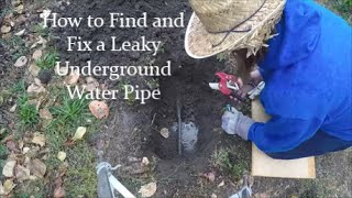 How to Find and Fix Underground Irrigation Pipe Leaks