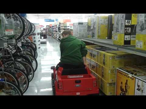 Me riding a PowerWheels