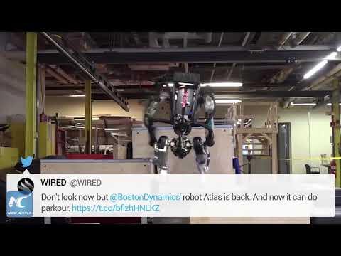 Boston Dynamics' Atlas robot shows off parkour skills