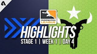 New York Excelsior vs Houston Outlaws | Overwatch League Highlights OWL Week 1 Day 4