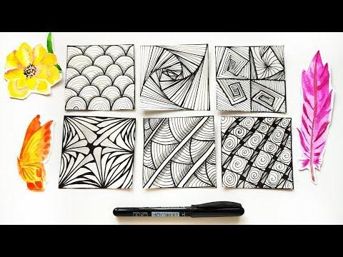how-to-draw-zentangle-patterns---easy-zen-art-ideas-\-tutorial-for-beginners
