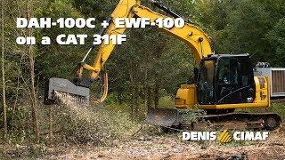 DAH-100C and EWF-100 on a CAT 311F - INTERVIEW - Land management company - DENISCIMAF.com
