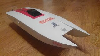 Homemade RC catamaran Build