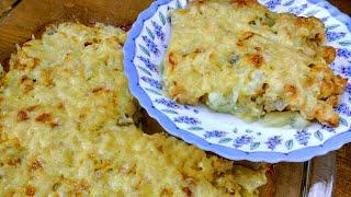 ОБАЛДЕННАЯ Курица с Картошкой под Сырно Луковой шубкой Рецепт куриной грудки в духовке