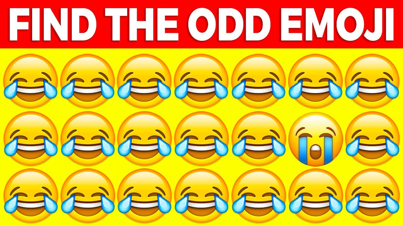 CAN YOU FIND THE ODD EMOJI IN THESE PICTURES?