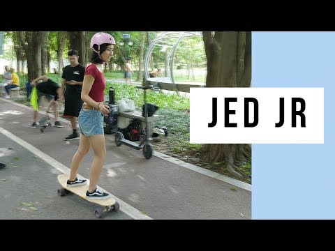 Jed Boards Jed Jr In Shenzhen Central Park, China