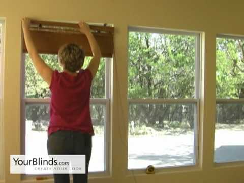 How To Install Bamboo Shades   Inside Mount   YourBlinds.com DIY   YouTube