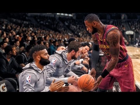 LEBRON JAMES TAUNTS SPURS BENCH & FANS! NBA Live 18 The One Career Gameplay