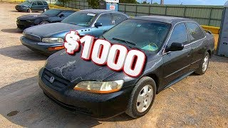 Cheap Copart $1000 2001 Honda Accord EX V6 - Run and Drive?