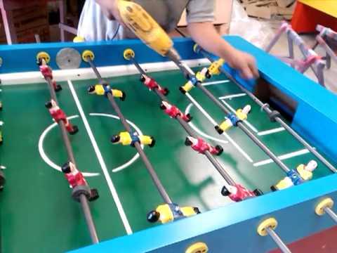 Videos de futbolitos y mesas de billar miguelo for Mesa futbolito