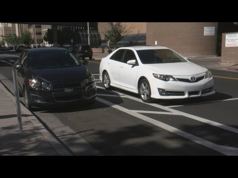 New buffered bike lanes causing confusion in downtown Albuquerque