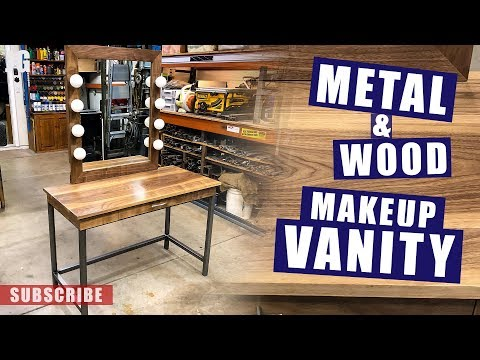 Metal and Wood Makeup Vanity | JIMBO'S GARAGE