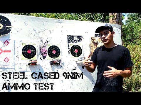 Steel Cased 9mm Ammo Test - Tulammo vs. Wolf vs. Brown Bear