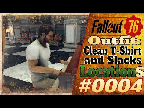 Fallout 76 [Outfit Locations] #4 - Location of Clean T-Shirt and Slacks #Fallout76