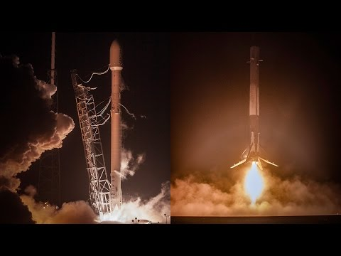"""The Falcon has landed"" 