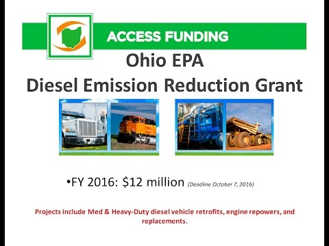 2016 Ohio EPA Diesel Emission Reduction Grant Informational Webinar