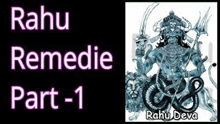 Rahu Remedies for all houses in lalkitab astrology by Ravinder Rawat
