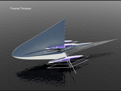 Futuristic TRIMARAN yacht comes complete with solar panels so you  sail even when the wind drops