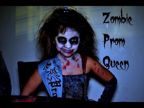 Zombie Prom Queen, Bella's Halloween tutorial.   YouTube