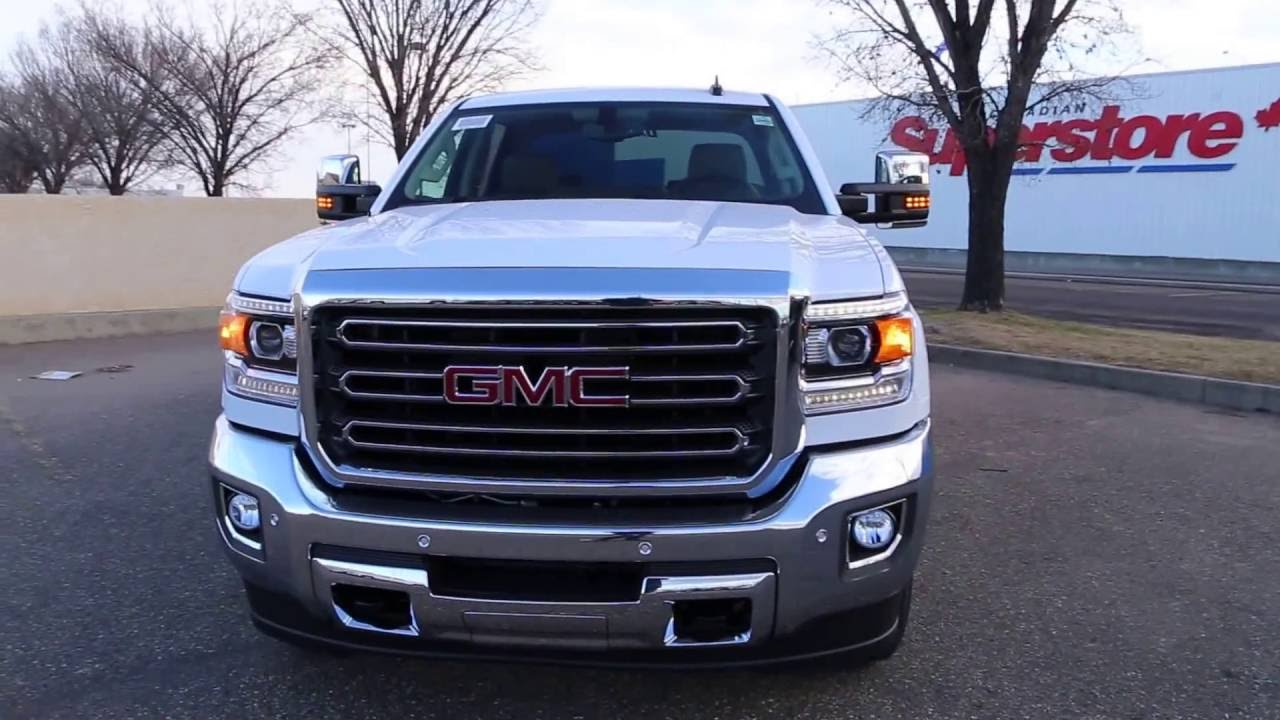 summit white 2017 gmc sierra 2500hd slt for sale in medicine hat ab youtube. Black Bedroom Furniture Sets. Home Design Ideas
