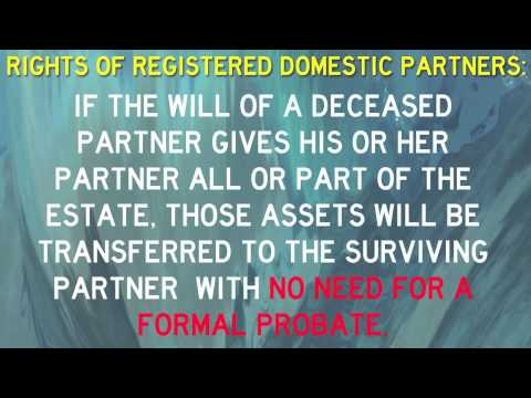 Registered Domestic Partners Rights In California