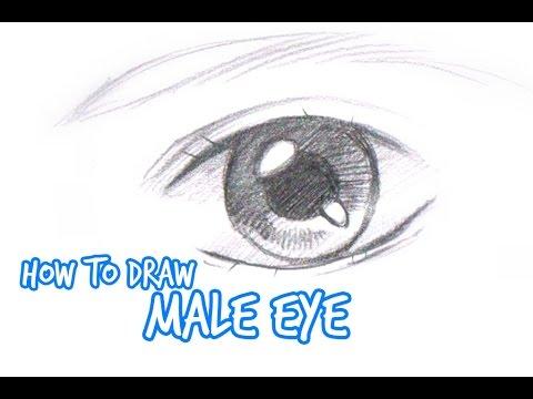 How To Draw Simple Anime Manga Eye Male Youtube