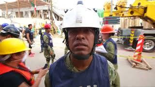 墨西哥中部地区4天前,遭遇一场里氏7.1级地震,多栋建筑瞬间倒塌。搜救...