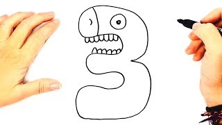 How to draw The Number 3   How to Learn Numbers by Drawing