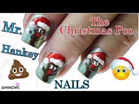 🎅💩Christmas Poo Nails 💅- 3D Puffy Paint Nail Art Tutorial thumbnail
