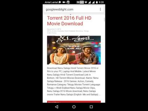 How to download torrents movies telugu