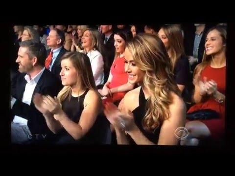 Miss Universe Pia Wurtzbach presenting at NFL Honors Super Bowl 50 HD