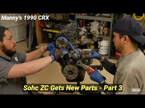 Budget CRX Build - SOHC ZC Engine Gets New Belts, Seals, and Clutch Kit