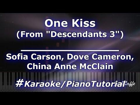 "Sofia Carson Dove Cameron China Anne McClain - One Kiss ""Descendants 3"" KaraokePianoTutorial"