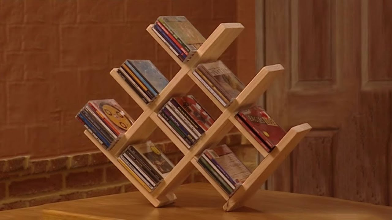 How to Build a Wooden CD Rack - YouTube
