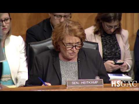 Senator Heitkamp serves as acting Ranking Member for nomination hearing