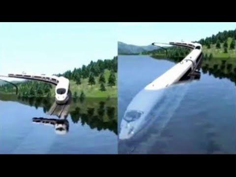 Дубай Построил Подводный Плавучий Поезд!