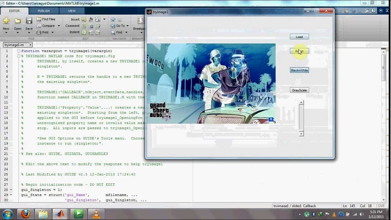 How to make A GUI using GUIDE in Matlab For Image Processing