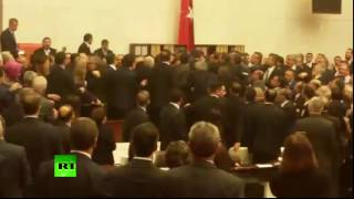 Turkish Brawl: Lawmakers fist fight on parliament floor over constitutional amendments