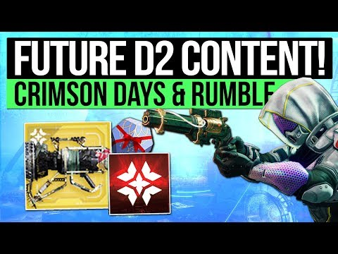 Destiny 2 News | FUTURE CONTENT! - Crimson Days, Masterwork Armor, New Year Changes & Rumble PvP?
